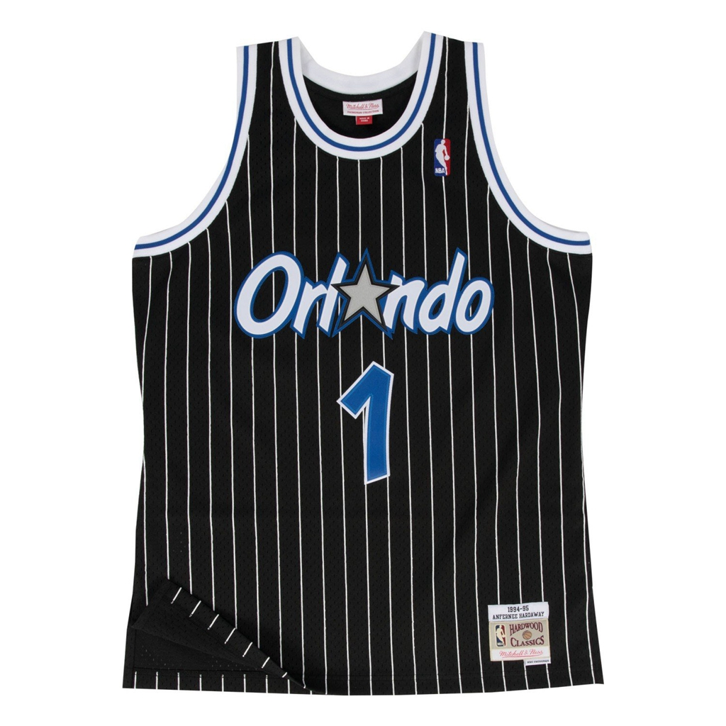 Penny Hardaway Orlando Magic Mitchell and Ness Men's Black Throwback Jesey