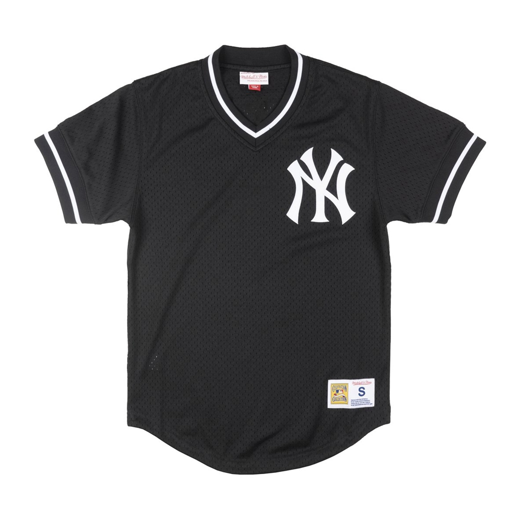 Mitchell and Ness Yankees Black/White Mesh Vneck Jersey (LA85K9-NYYKCV7)