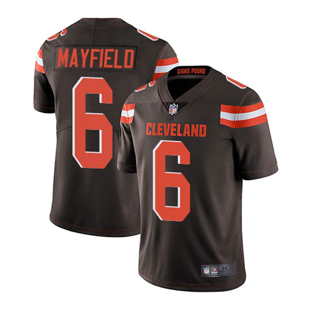 VF Cleveland Browns #6 Baker Mayfield Brown Home Limited Stitch Jersey