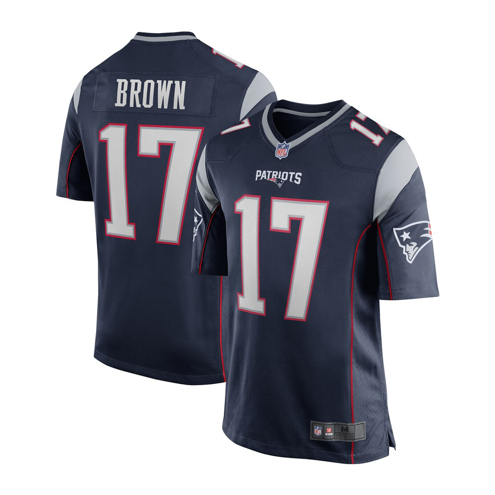 VF New England Patriots Antonio Brown #17 Limited Jersey - Navy