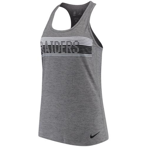 NFL Oakland Raiders Women's Touch Performance Nike Tank Top - Charcoal
