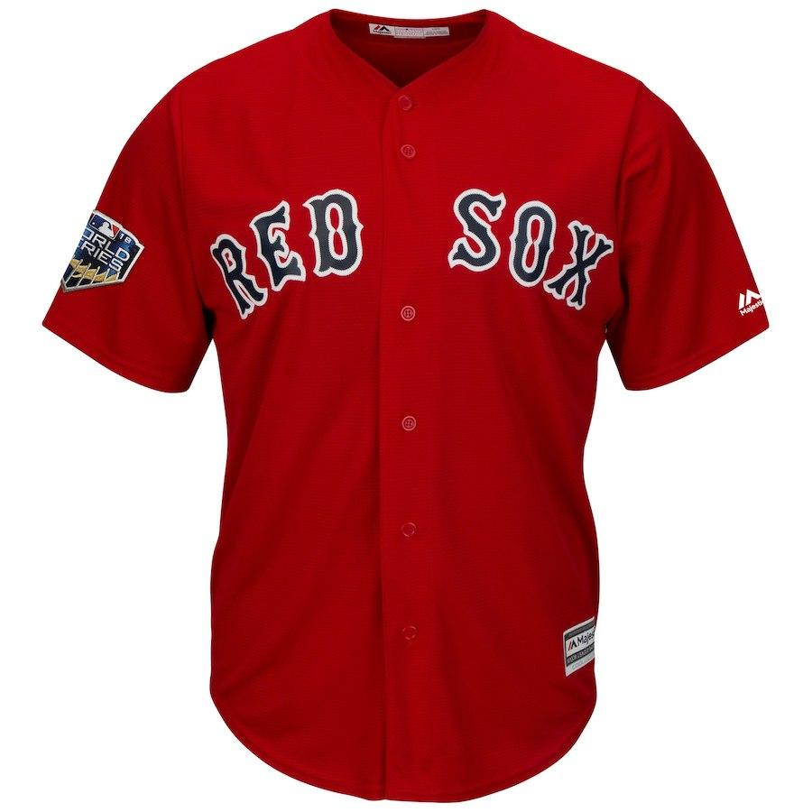MLB Boston Red Sox Fanatics 2018 World Series Patch Replica Jersey - Red
